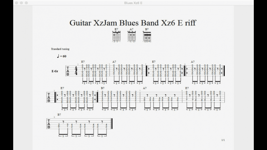 Guitar XzJam Virtual Band for Mac - review, screenshots