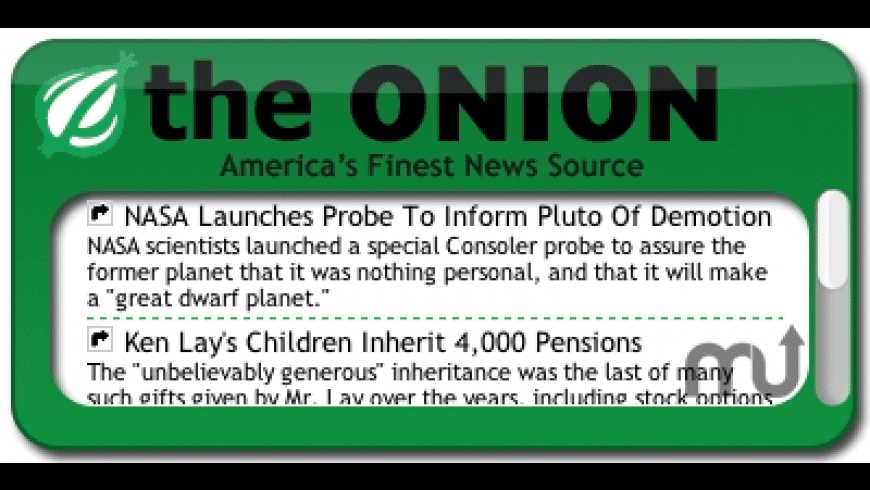 The Onion Headlines Widget for Mac - review, screenshots