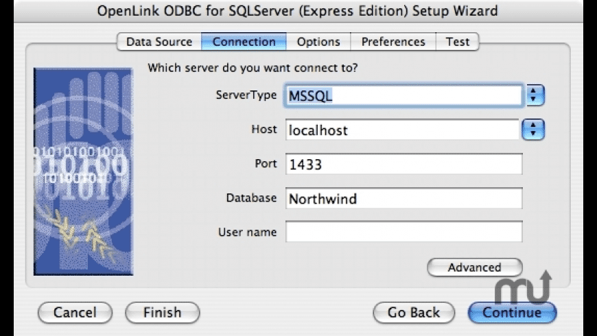 OpenLink Express ODBC Driver for Microsoft SQL Server for Mac - review, screenshots