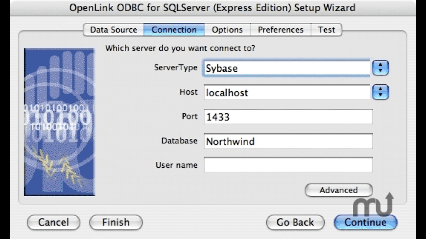 OpenLink Express ODBC Driver for Sybase for Mac - review, screenshots