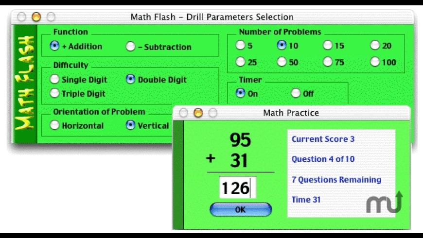 Math Flash for Mac - review, screenshots