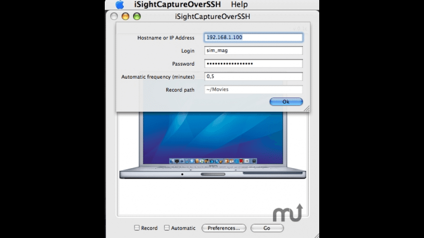 iSightCaptureOverSSH for Mac - review, screenshots