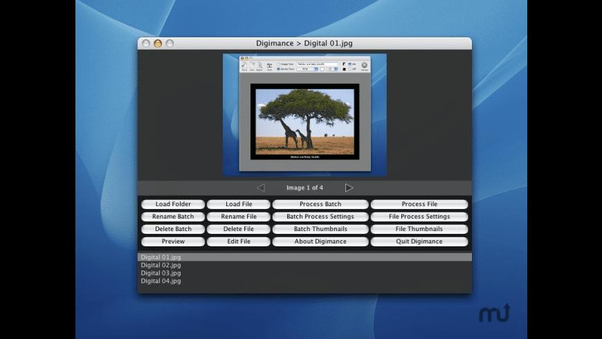 Digimance for Mac - review, screenshots