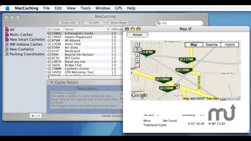 MacCaching for Mac - review, screenshots