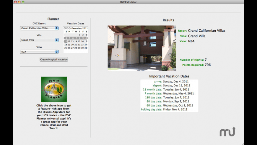 DVC Calculator for Mac - review, screenshots