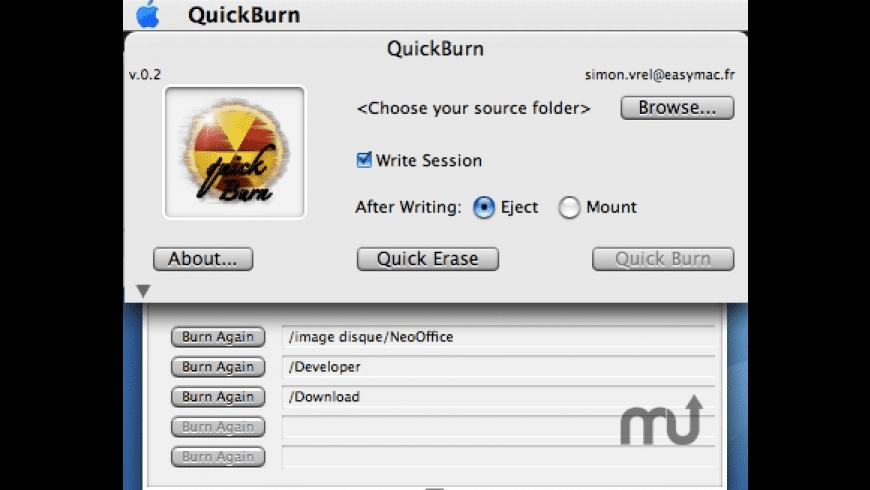 QuickBurn for Mac - review, screenshots