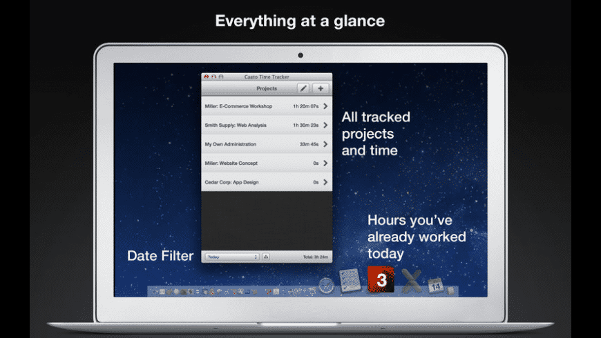Caato Time Tracker for Mac - review, screenshots