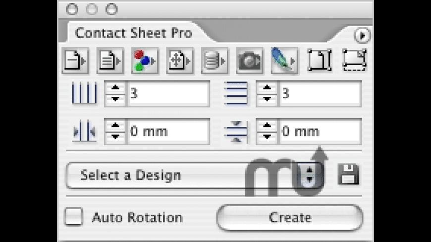 Cacidi Contact Sheet Pro for Mac - review, screenshots