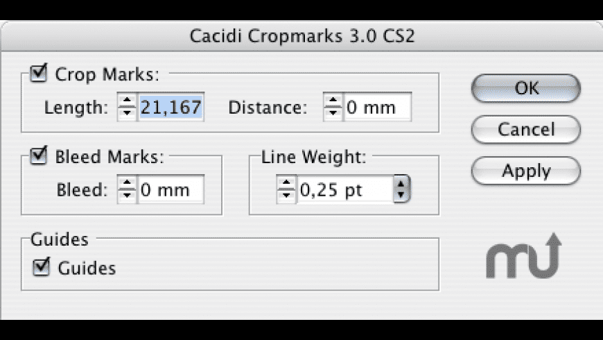 Cacidi Cropmarks for Mac - review, screenshots