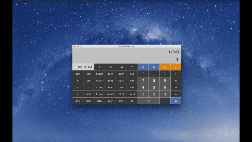 Snowflower Calc for Mac - review, screenshots