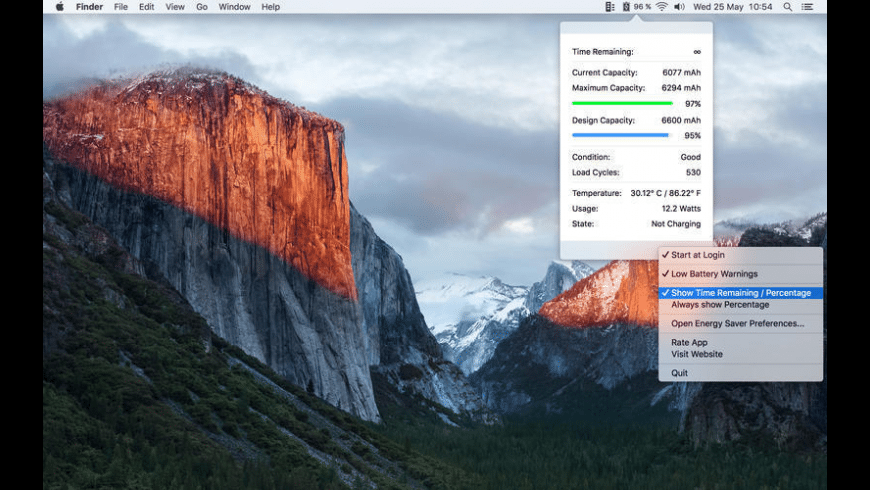 Battery Time & Stats for Mac - review, screenshots