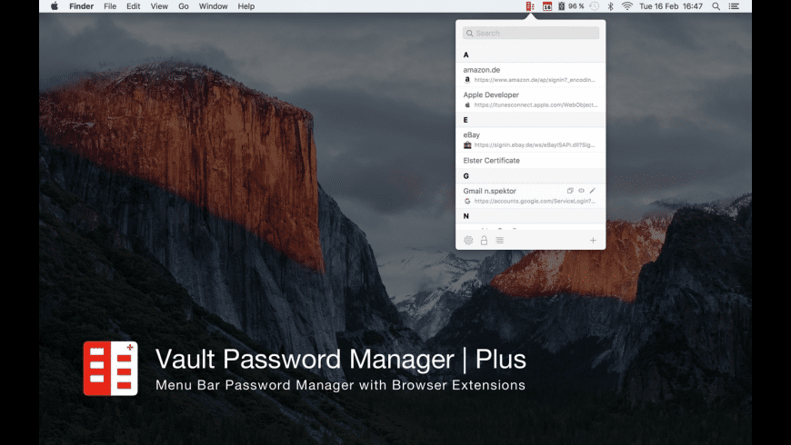 Vault Password Manager | Plus for Mac - review, screenshots