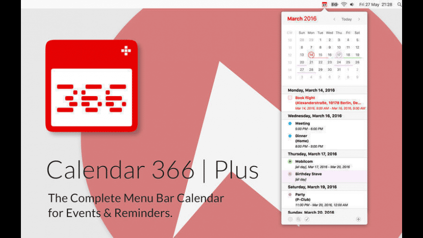 Calendar 366 Plus for Mac - review, screenshots