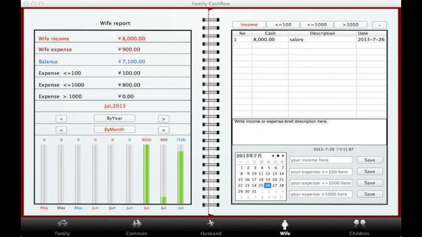 Family Cashflow for Mac - review, screenshots