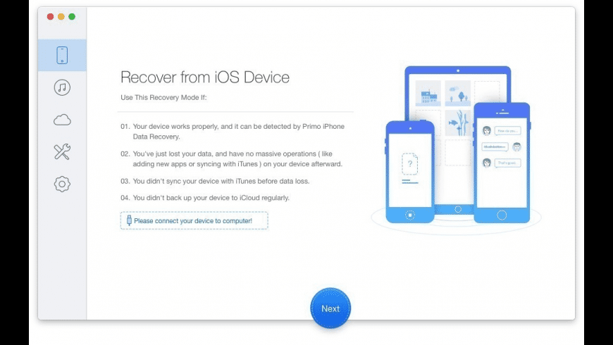 Primo iPhone Data Recovery for Mac - review, screenshots