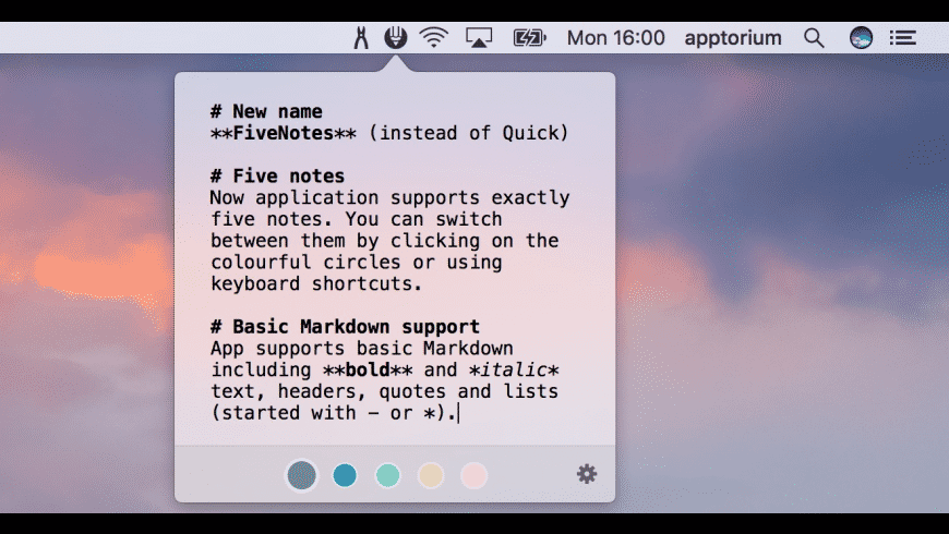 FiveNotes for Mac - review, screenshots