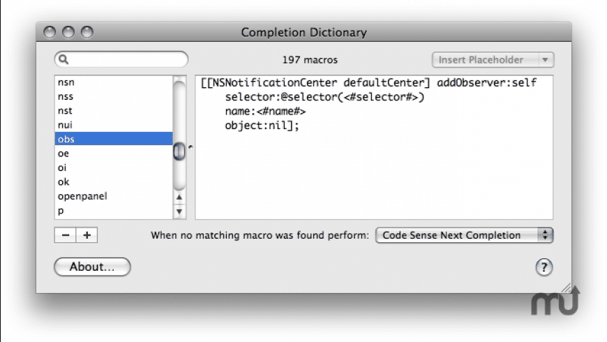 Completion Dictionary for Mac - review, screenshots