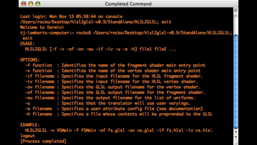 HLSL2GLSL for Mac - review, screenshots