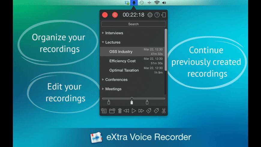 eXtra Voice Recorder for Mac - review, screenshots