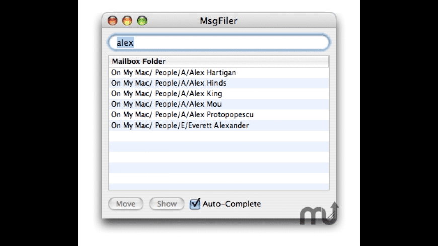 MsgFiler for Mac - review, screenshots