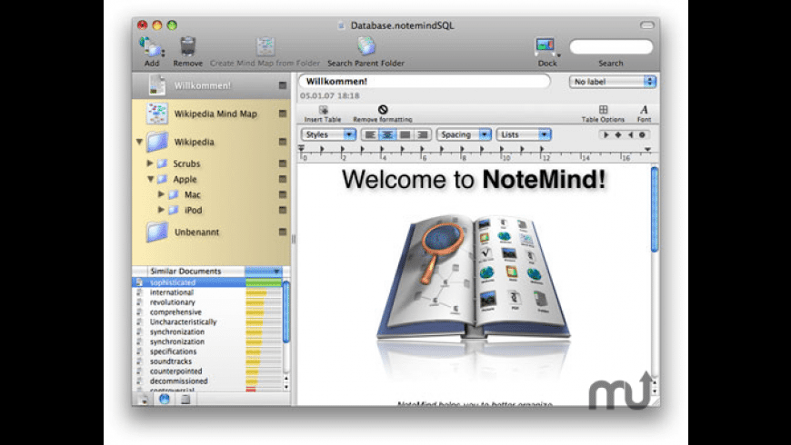 NoteMind for Mac - review, screenshots