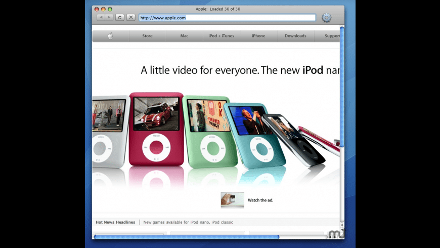 MiniBrowser for Mac - review, screenshots