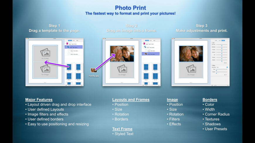 Photo Print for Mac - review, screenshots