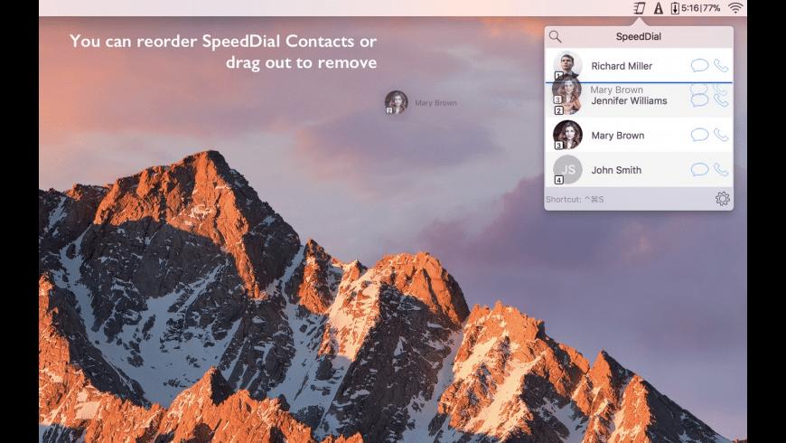 SpeedDial for Mac - review, screenshots