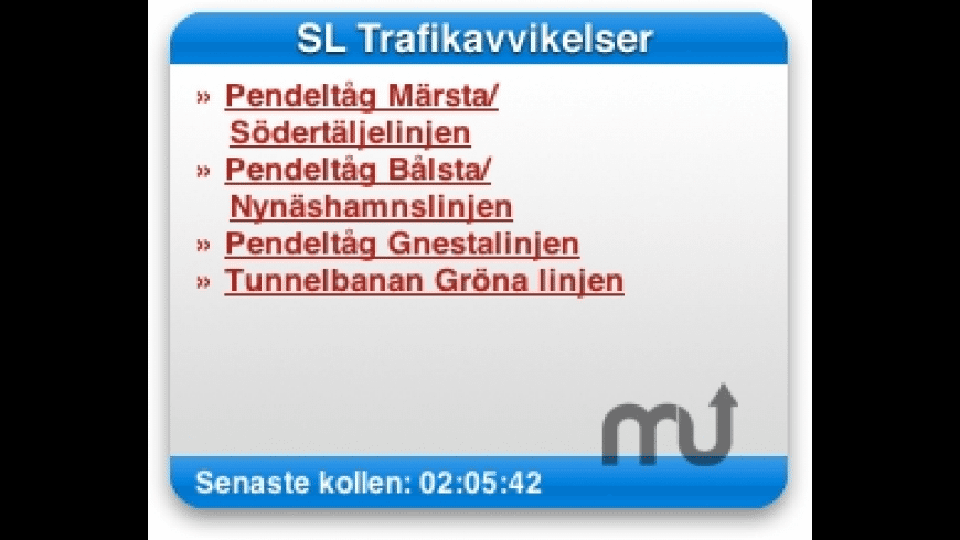 SL Trafikavvikelser for Mac - review, screenshots