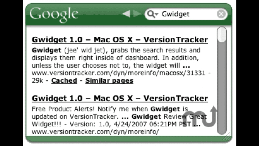 Gwidget for Mac - review, screenshots