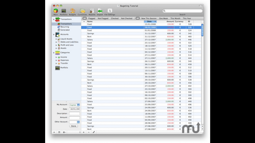 FinanceToGo for Mac - review, screenshots