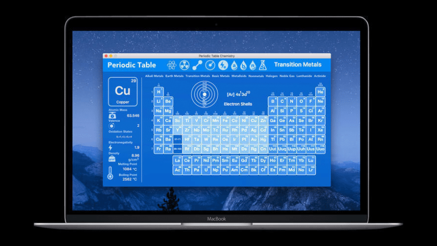 Periodic Table Chemistry for Mac - review, screenshots