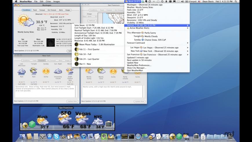 WeatherMan for Mac - review, screenshots