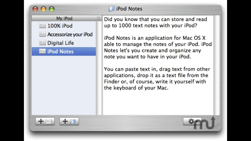 iPod Notes for Mac - review, screenshots