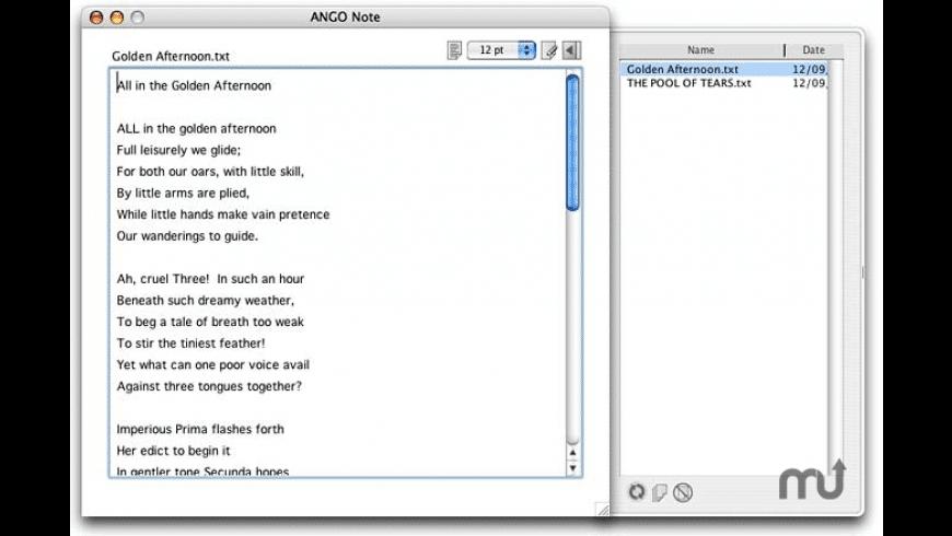 ANGO Note for Mac - review, screenshots