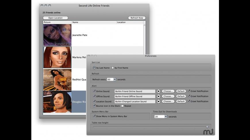 Second Life Notifier for Mac - review, screenshots