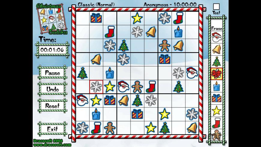 Christmas Sudoku for Mac - review, screenshots