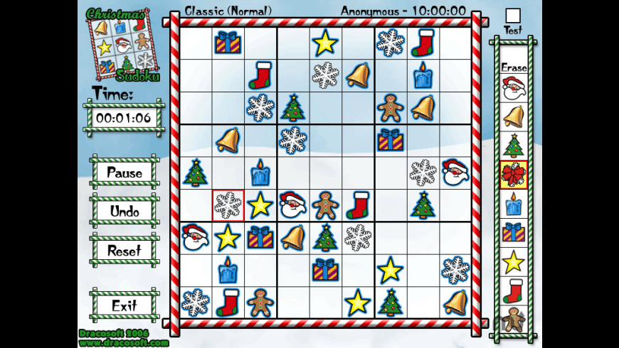 Christmas Sudoku for Mac - review, screenshots