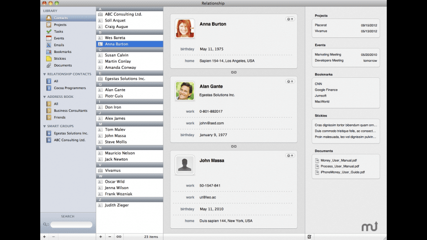 Relationship for Mac - review, screenshots