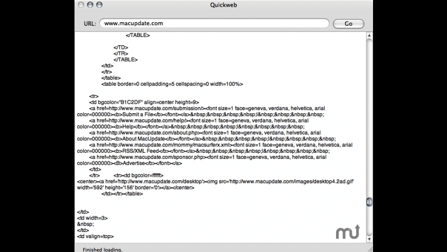 Quickweb for Mac - review, screenshots