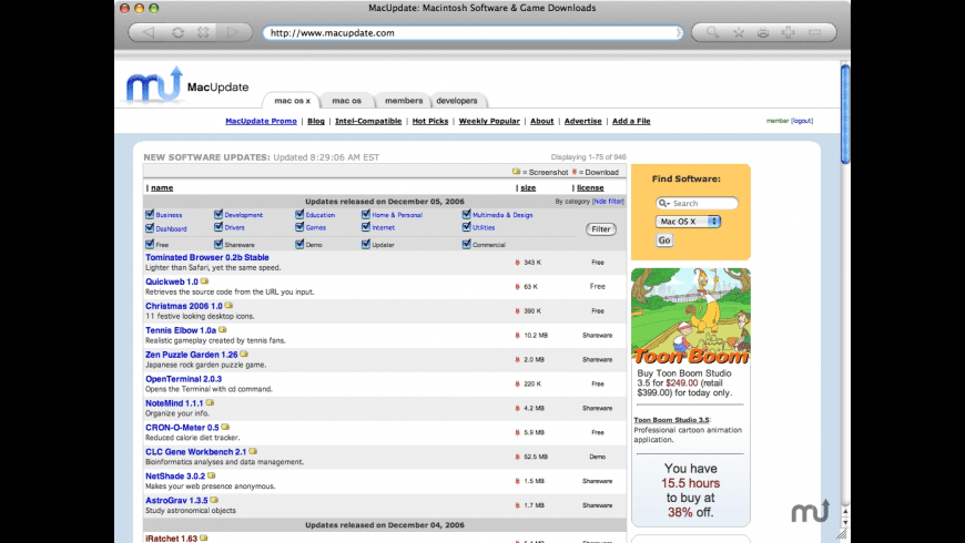 Tominated Browser for Mac - review, screenshots