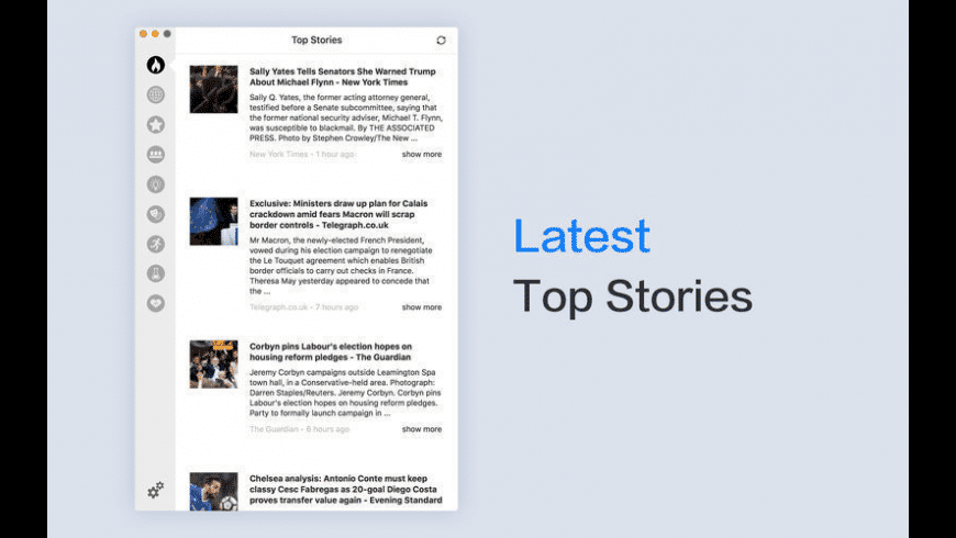 Headlines for Google News for Mac - review, screenshots