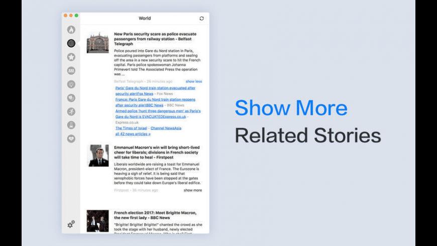 Headlines for Google News for Mac - review, screenshots