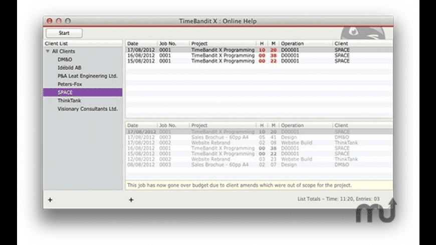 TimeBandit X for Mac - review, screenshots