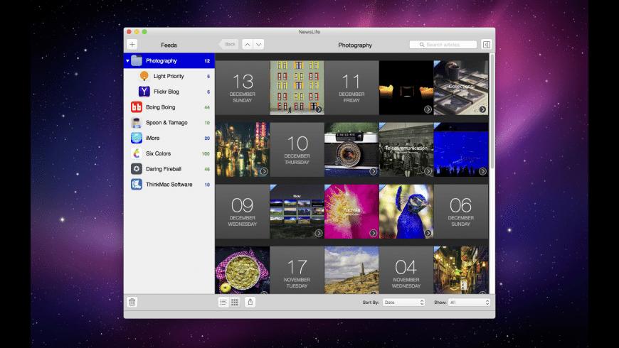 NewsLife for Mac - review, screenshots