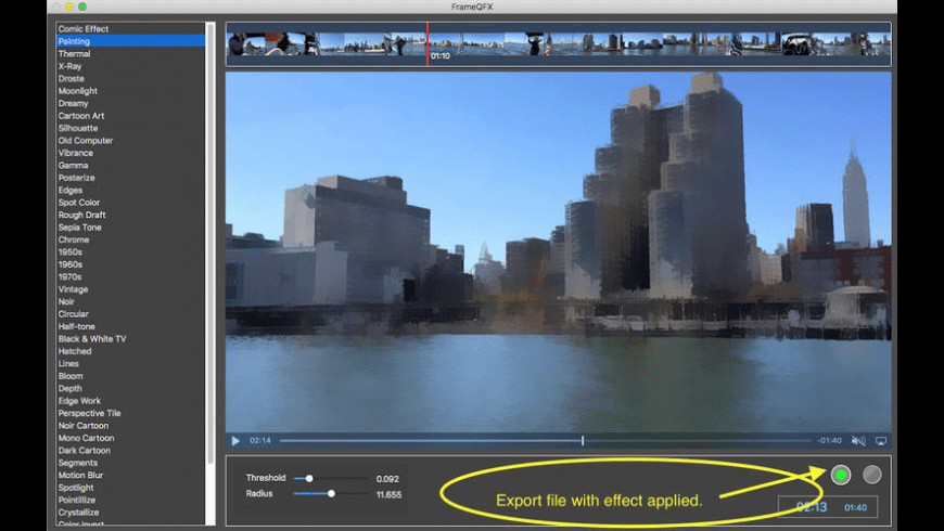 FrameQFX for Mac - review, screenshots