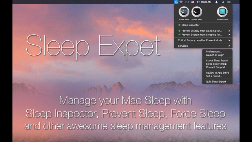 Sleep Expert for Mac - review, screenshots