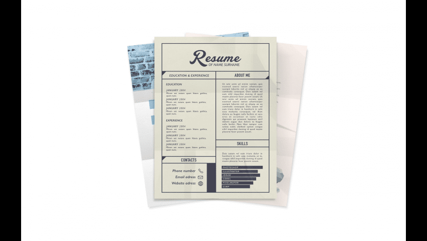 CV Mall Templates for Pages for Mac - review, screenshots