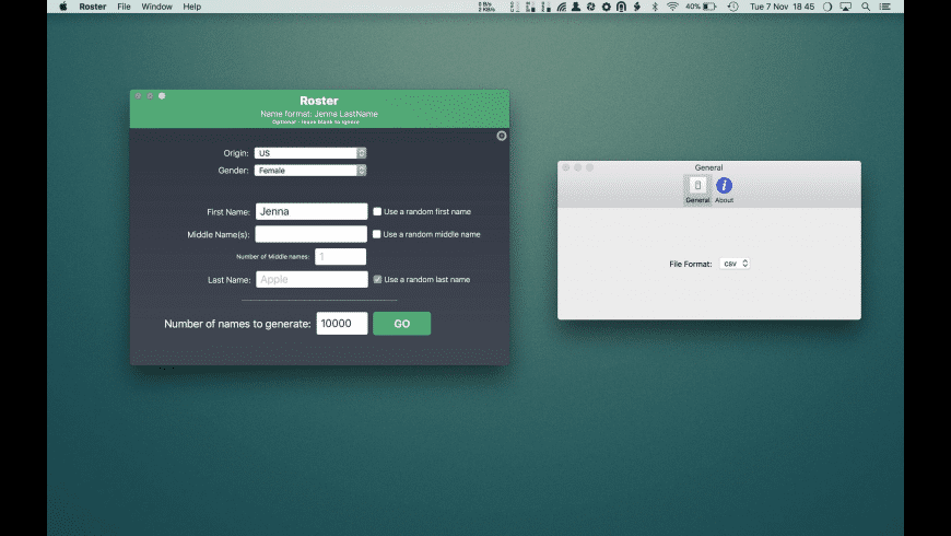 Roster for Mac - review, screenshots