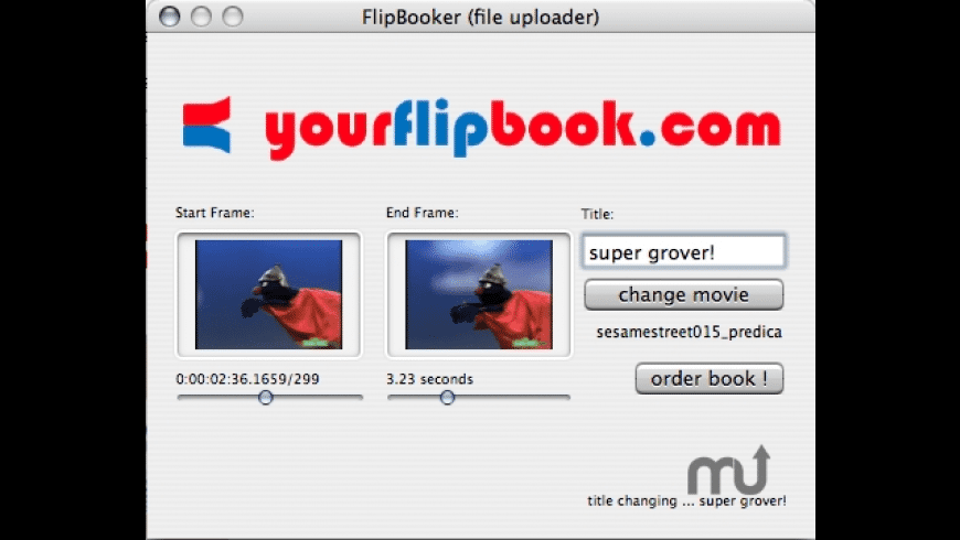 flipbooker-sender for Mac - review, screenshots